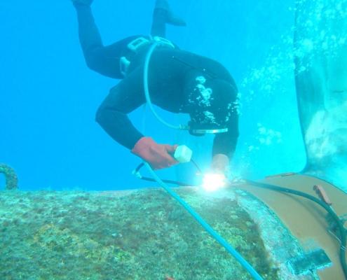 جوشکاری زیر آب